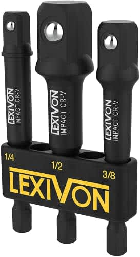Lexivon Impact Grade Socket Adapter Set