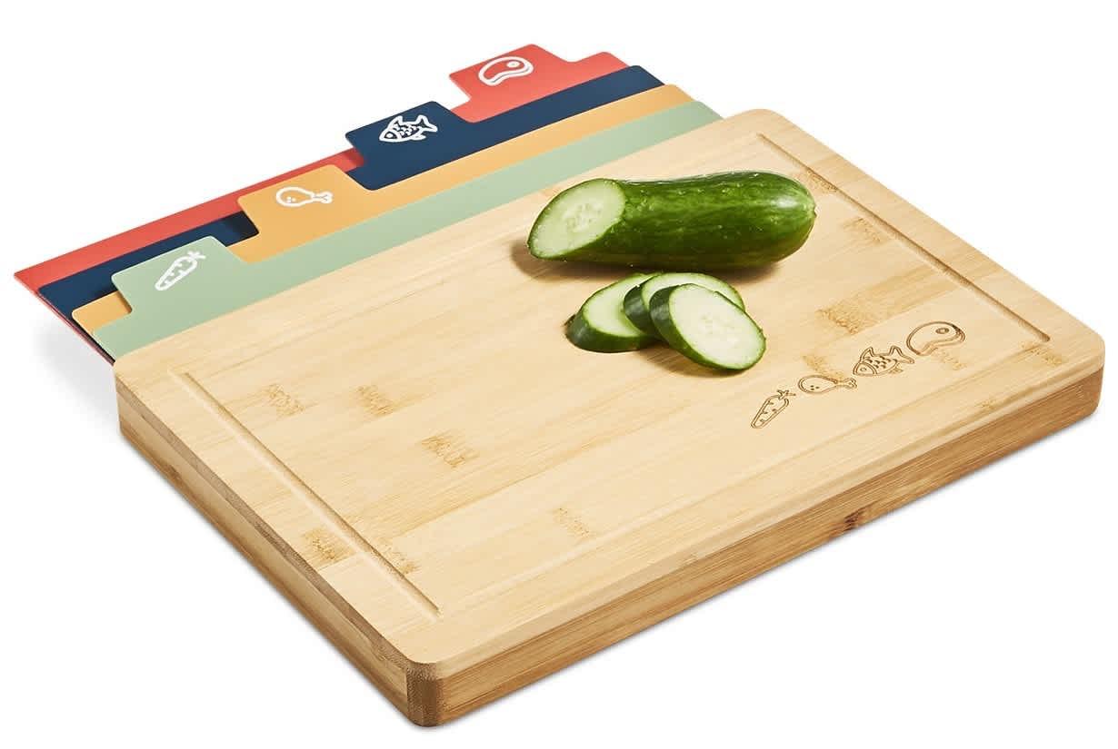 Art & Cook 5-Piece Bamboo Board and Cutting Mat Set