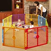 Toddleroo by North States 8-Panel Superyard Play Yard Freestanding Gate