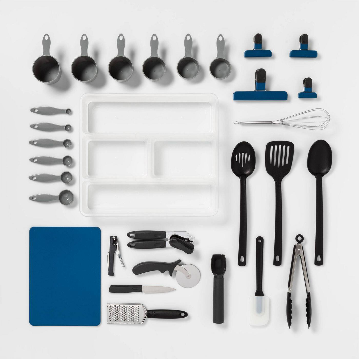30-Piece Room Essentials Kitchen Utensil Set w/ Organizer Tray
