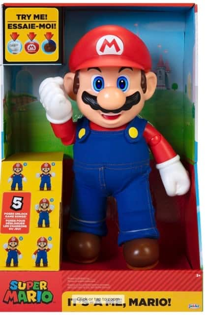 "12"" Super Mario Bros It's-a Me, Mario Action Figure w/ 30+ Phrases & Game Sounds"