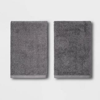 6-Pc Threshold 5-Section Serving Platter $5, 2-Ct Room Essentials Bath Towels