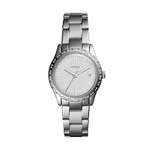 Fossil Women's Adalyn Quartz Stainless Three-Hand Watch, Color: Silver (Model: BQ3373)