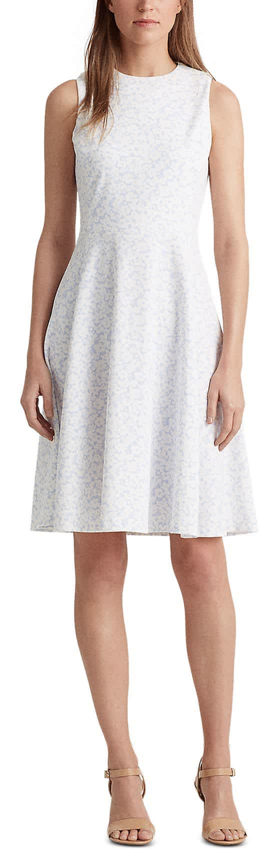 Lauren Ralph Lauren Women's Floral Fit-and-Flare Dress