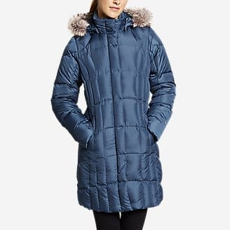 Eddie Bauer Down Parkas: Men's CirrusLite, Women's Lodge