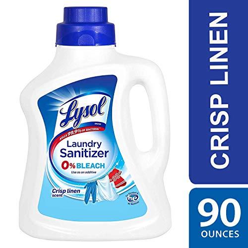 Lysol 衣物洗涤除菌消毒液, Crisp Linen香型,不含漂白剂,90oz