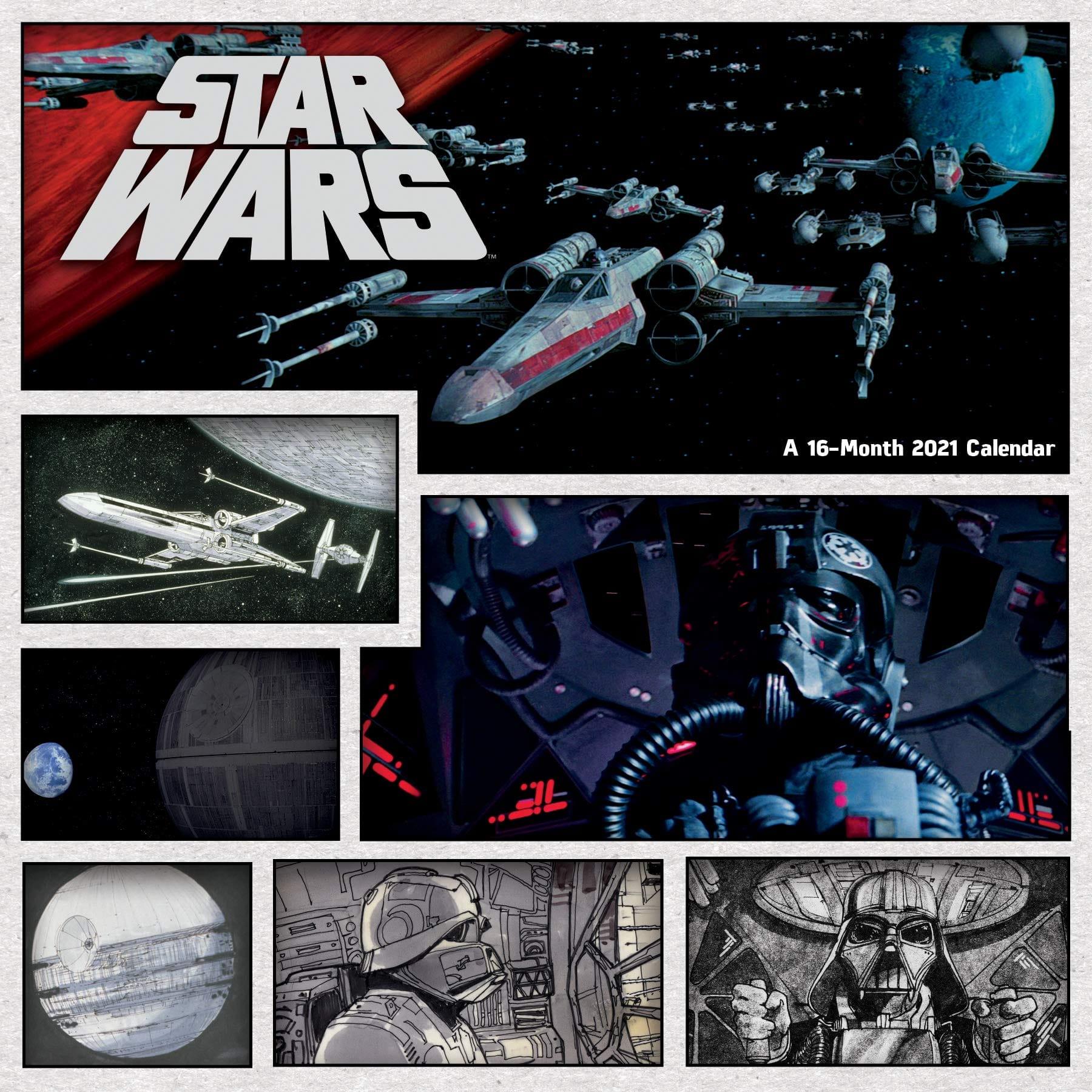 "DateWorks Star Wars 2021 Wall Calendar (11.8"" x 11.8"")"