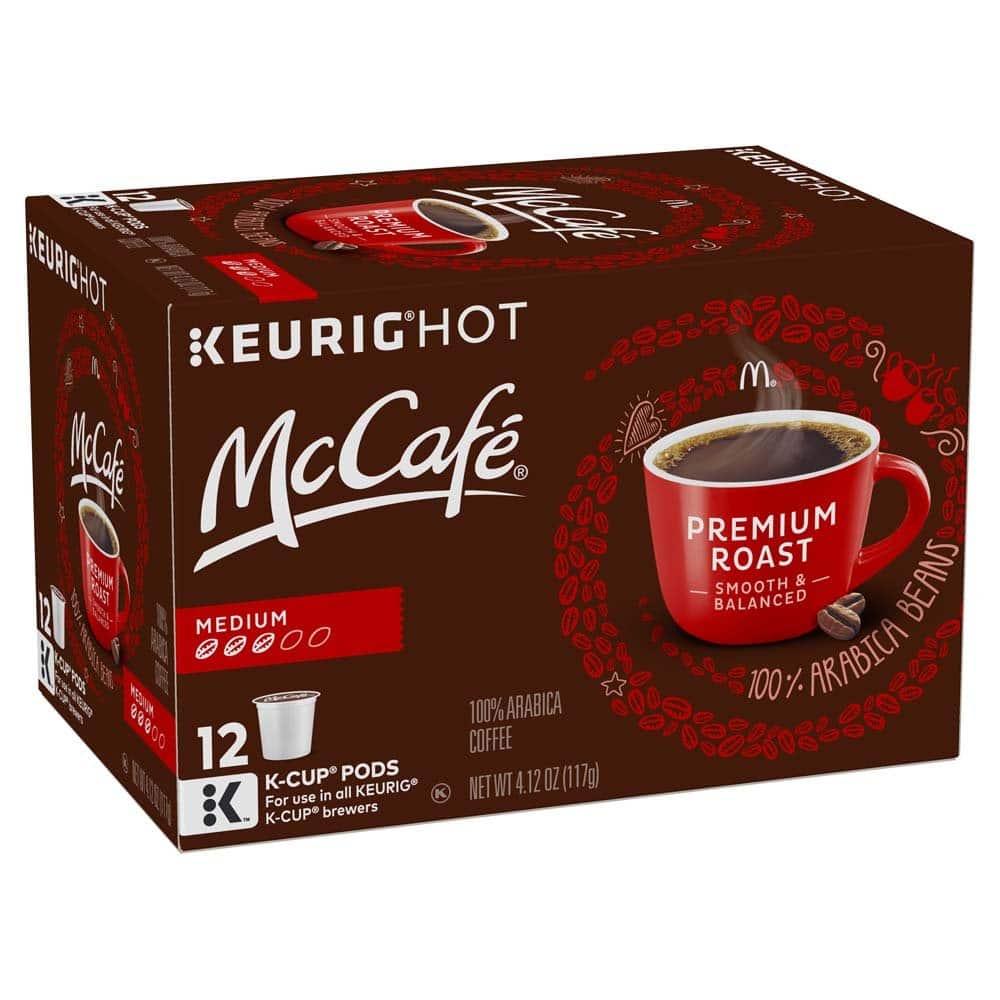 12-Count McCafe K-Cup Coffee Pods or 12-Oz McCafe Premium Roast Ground Coffee