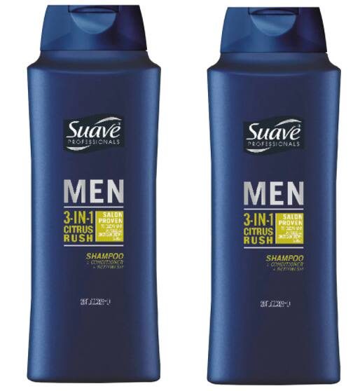 28-Oz Suave Men's 3-in-1 Shampoo Conditioner Body Wash (Citrus Rush)
