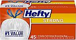 2 X 45 Count Hefty Strong Tall Kitchen Trash Bags, Unscented, 13 Gallon