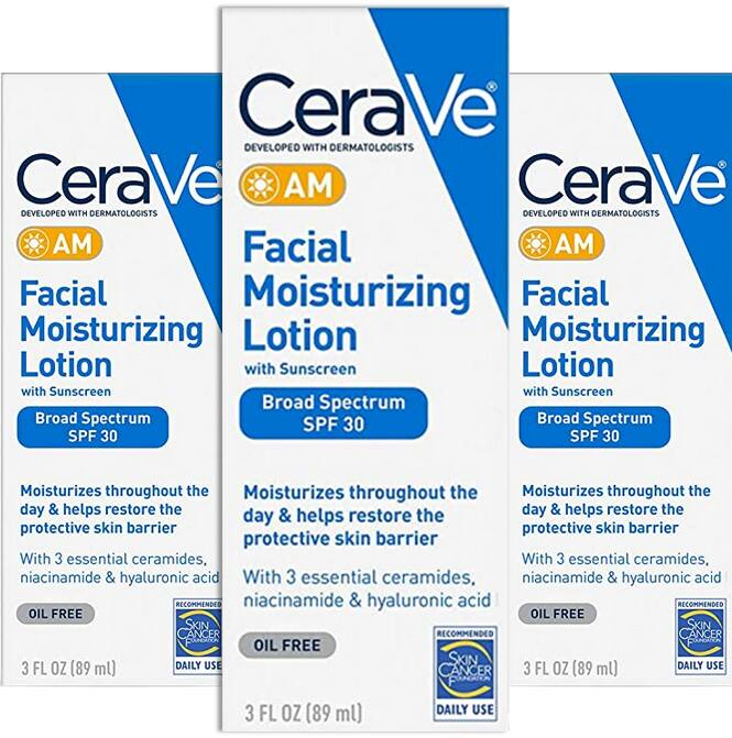 Select Skin Care B2G1 Free: 3-Oz CeraVe AM Facial Moisturizing Lotion (SPF 30)