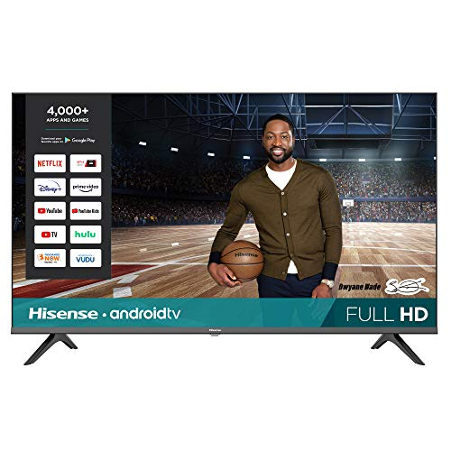 Hisense 43-Inch 43H5500G Full HD Smart Android TV with Voice Remote (2020 Model)