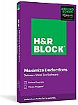 H&R Block Tax Software Deluxe + State 2020 with Refund Bonus (Physical Code by Mail)