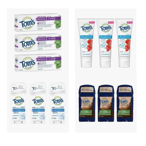 金盒特价!Amazon精选Tom's of Maine牙膏和身体除味剂大促销!