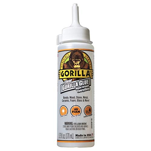 Gorilla Clear Glue, 5.75 ounce Bottle, Clear (Pack of 1),4572502
