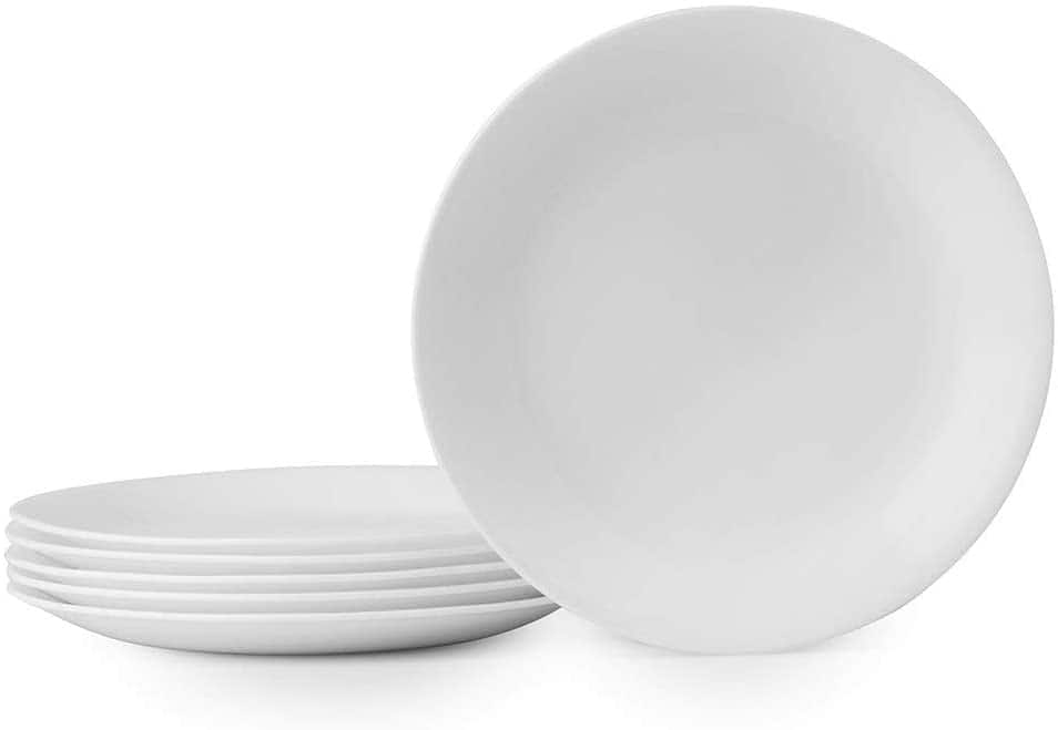 "6-Piece 8.5"" Corelle Winter Frost White Lunch Plates Set"