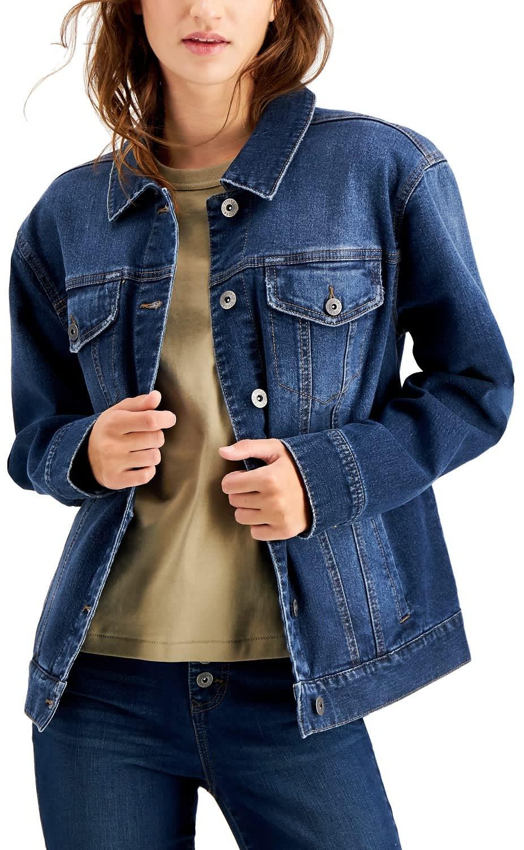 Style & Co. Women's Denim Trucker Jacket