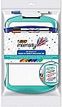 BIC Intensity Dry Erase Kit (9 Markers, Dual-Sided Dry Erase Board, Clip-On Eraser)