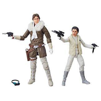 Star Wars The Black Series Han Solo and Princess Leia Organa Figure Set