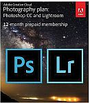 12-Month Adobe Creative Cloud Photography Plan for Windows/Mac, 20 GB of Storage (1 User)