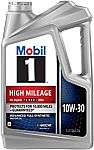 5-Quart Mobil 1 High Mileage 10W-30 Motor Oil