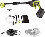 Sun Joe 24V-PP350-BDL iON+ Cordless 2.0-Ah 350-PSI 0.6-GPM Power Cleaner Bundle