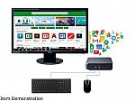"ASUS Celeron Chromebox + 24"" FHD Monitor (Celeron 3865U 4GB 32GB) w/ 1682399 Keyboard Mouse Bundle"