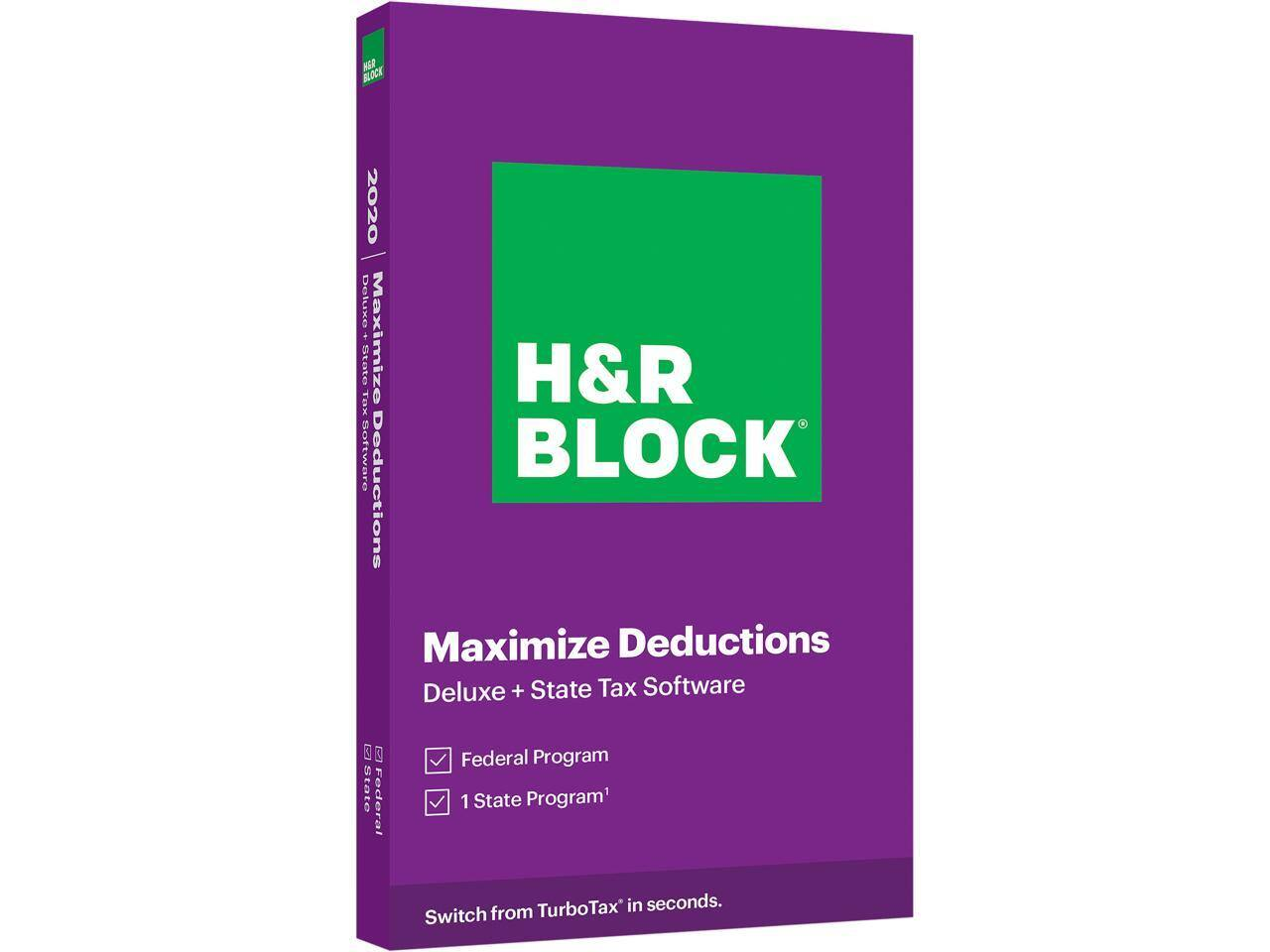 H&R Block 2020 Tax Software: Premium + State $26, Deluxe Federal + State