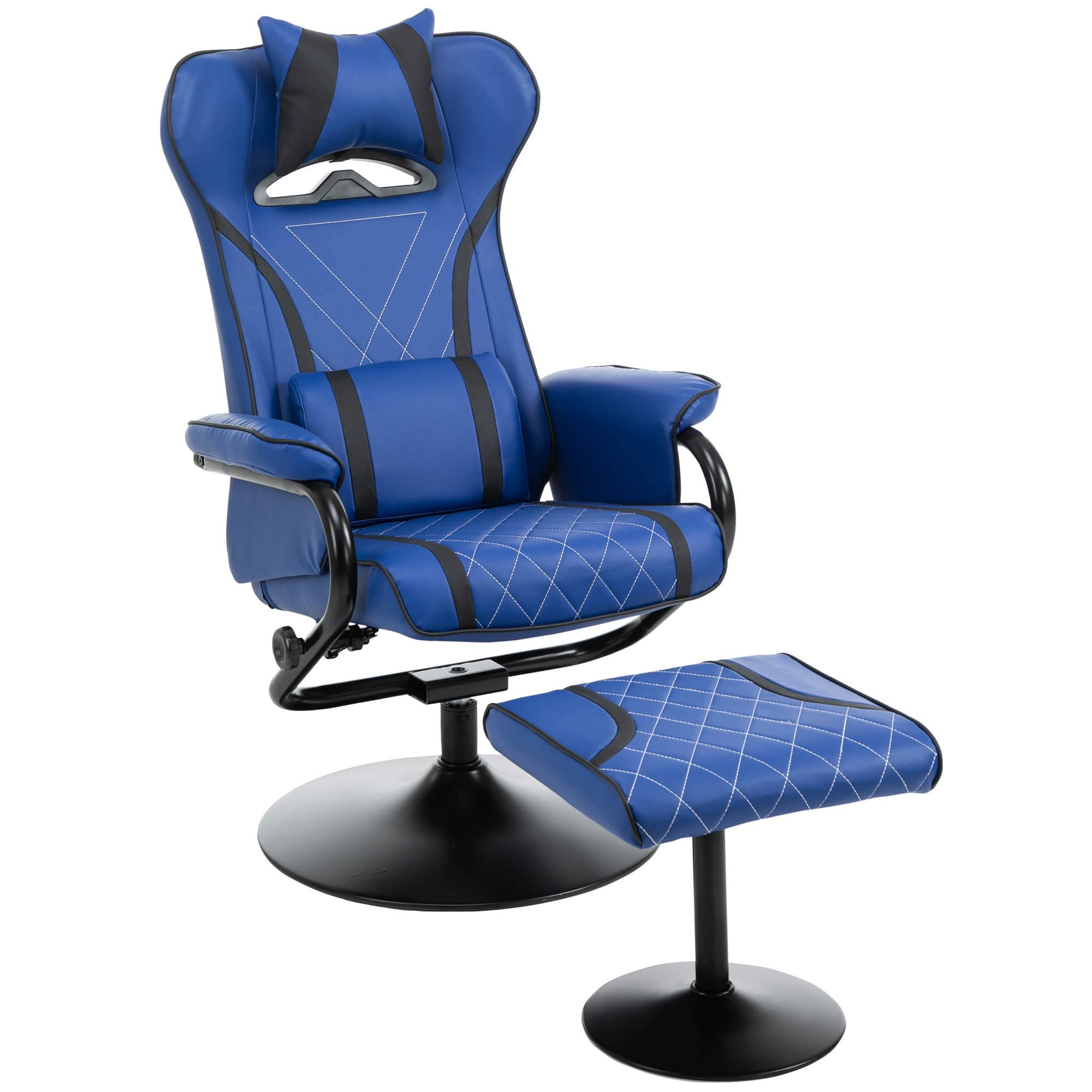 Homcom Racing Style Recliner with Ottoman