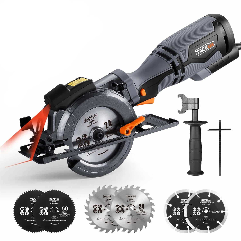 Tacklife Mini Circular Saw w/ Laser Guide