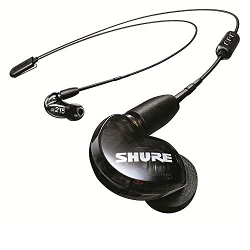 Shure SE215 BT2 Wireless Sound Isolating Earbuds, Premium Audio with Deep Bass, Single Driver, Bluetooth 5, Secure In-Ear Fit - Black