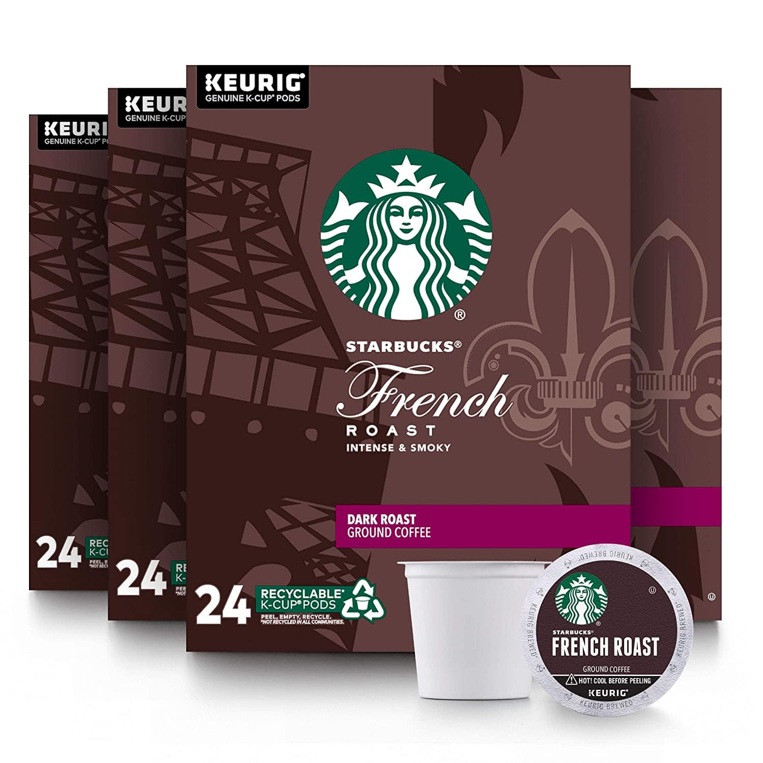 96-Count Starbucks French Roast Coffee K-Cups for Keurig Brewers