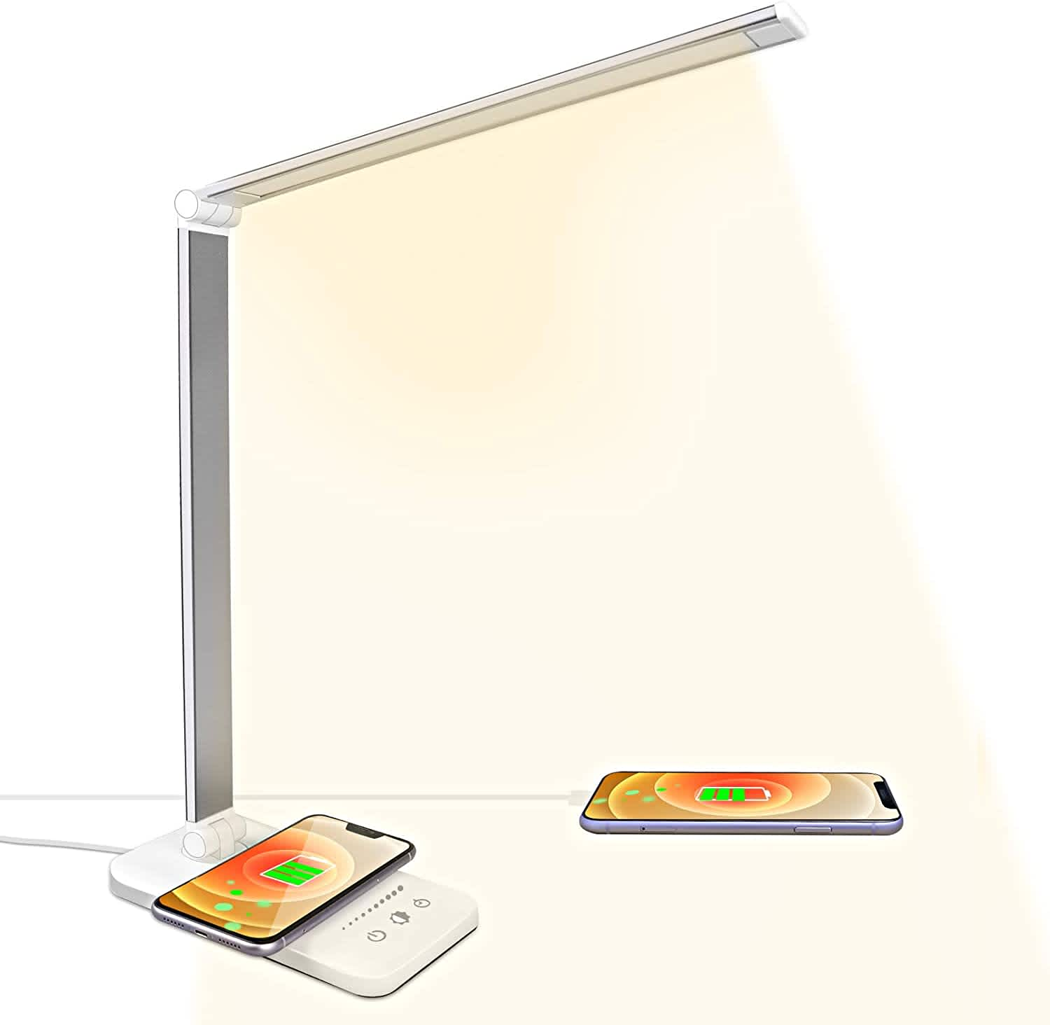 A3A ACADGQ LED Desk Lamp with Wireless Charger