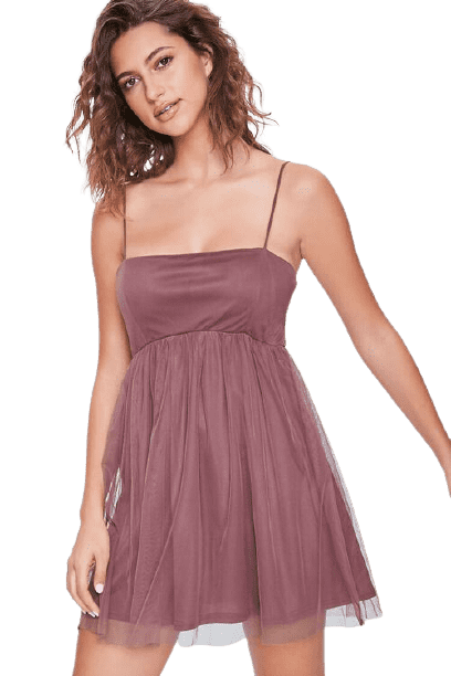 Forever 21 Women's Fit and Flare Cami Mini Dress