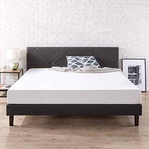 ZINUS Judy Upholstered Platform Bed Frame, King