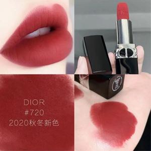 补货!Dior烈焰蓝金唇膏丝绒#720