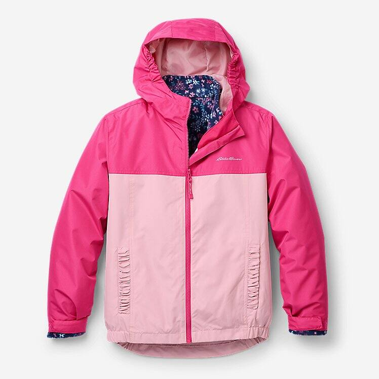 Eddie Bauer Boys' or Girls' Classic Down Hooded Jacket $30 Lone Peak 3-in-1 Jacket