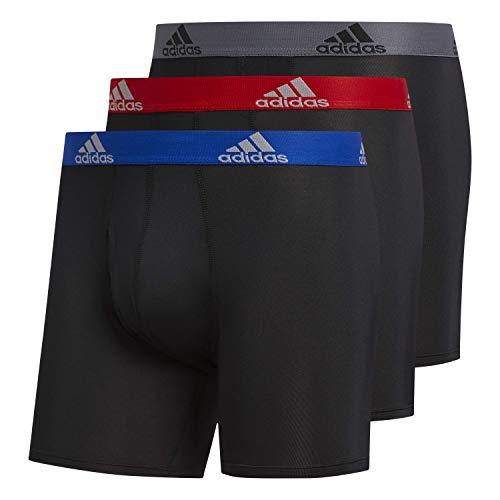 adidas Men's Performance Boxer Briefs Underwear (3-Pack)