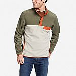 Eddie Bauer Men's Chutes Snap Mock Fleece $29.99, or Women's Quest Plush Fleece