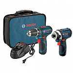 Bosch 12v PS31-2A Drill & PS41 Impact Driver Kit w/ 2 Batteries