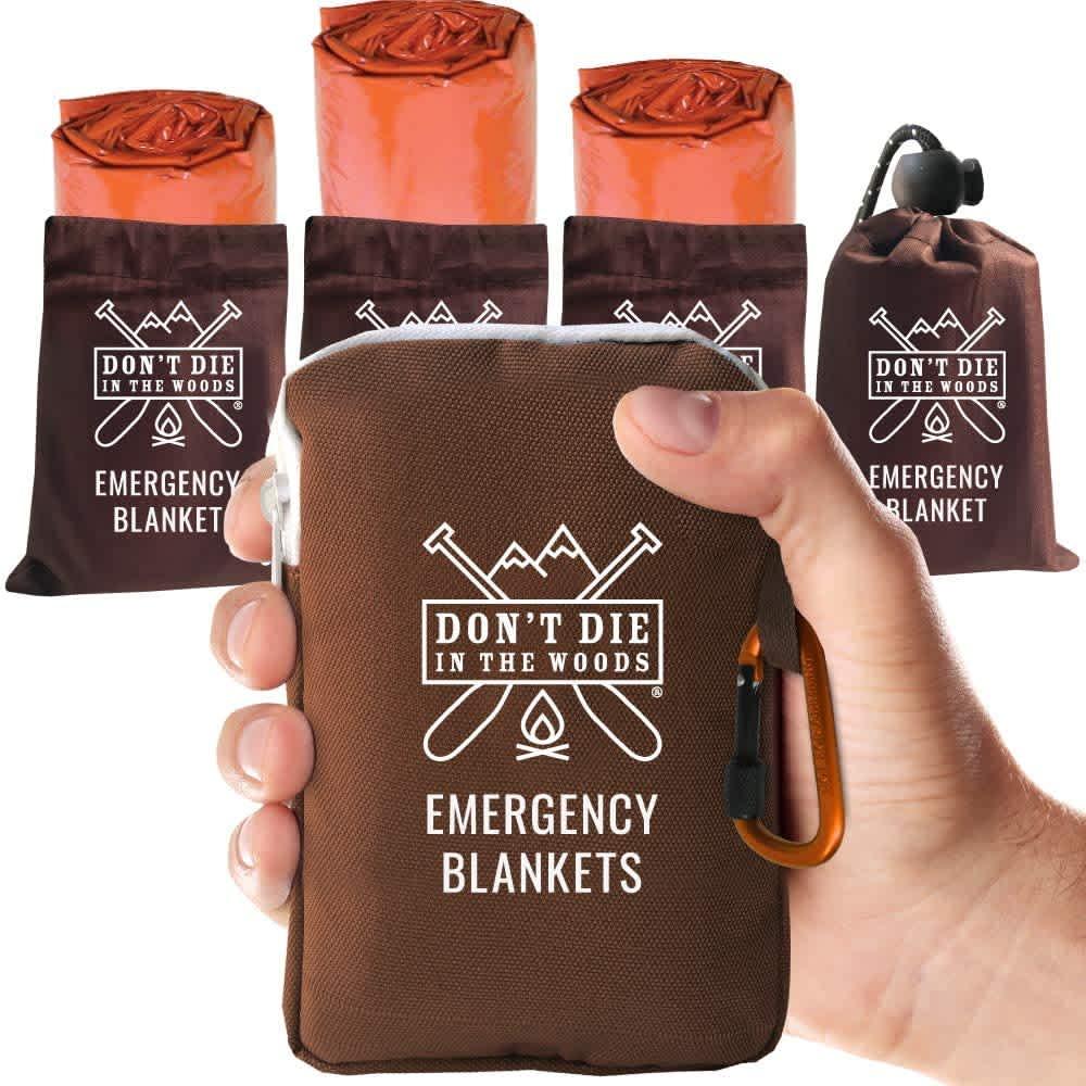 Don't Die in the Woods XL Emergency Blanket 4-Pack