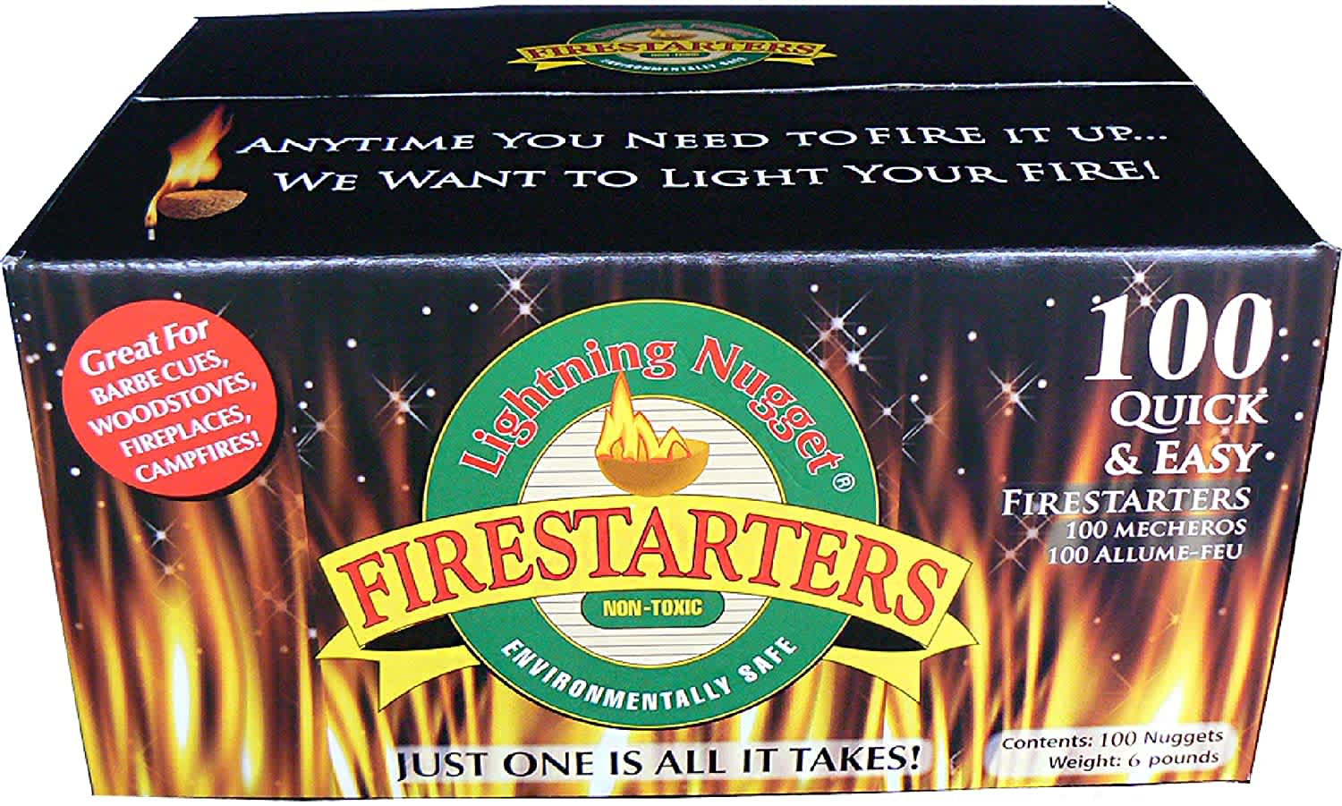 Lightning Nuggets 200-Count Fire Starters
