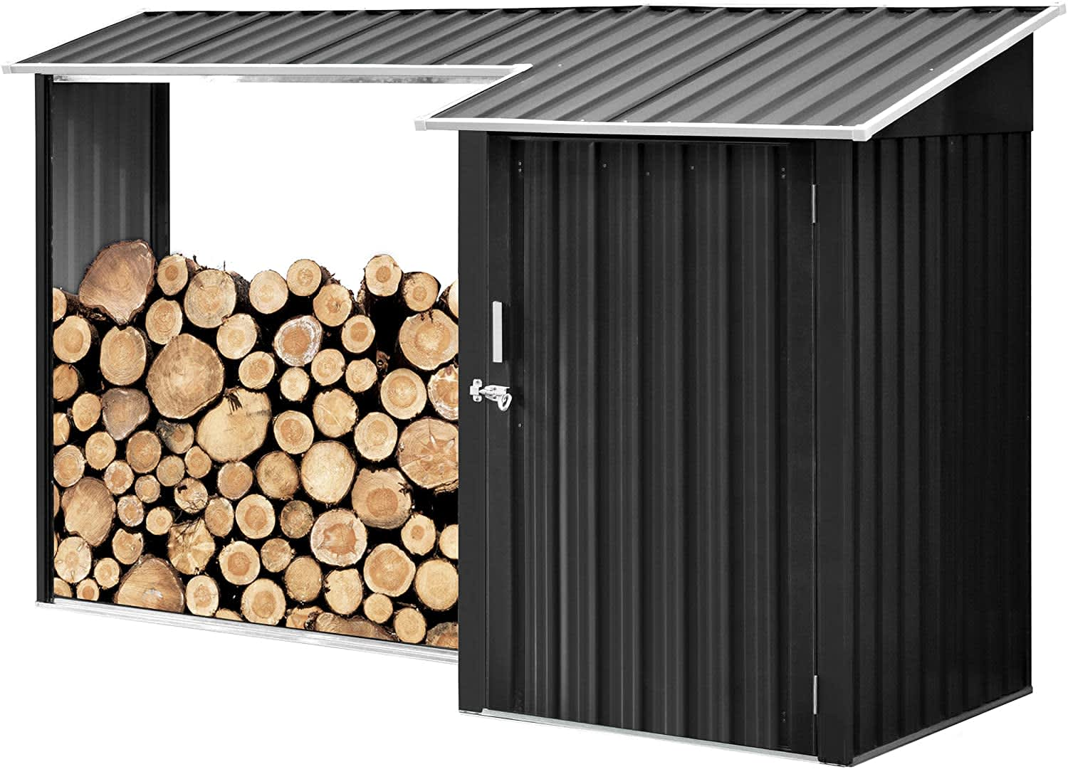Hanover Shed with Firewood Storage