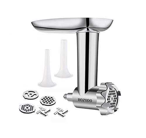 HOZODO Food Meat Grinder Attachments Designed for KitchenAid Stand Mixers