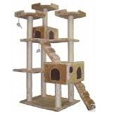 Go Pet Club Cat Tree F2040 - Beige - 72 in.