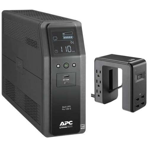 APC BR1350MS 1350VA/810W UPS & APC PE6U4 Surge Protector Bundle