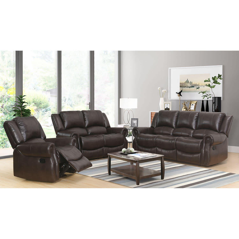 Abbyson Living Matthew 3-Piece Reclining Sofa Set