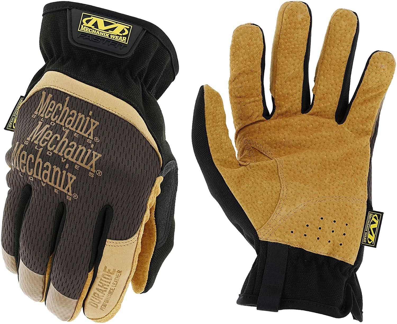 Mechanix Wear DuraHide FastFit Leather Work Gloves (X-Large, Brown/Black)