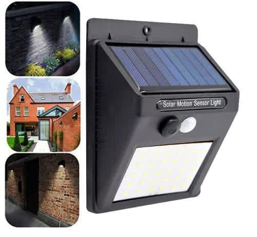 Solar-Powered LED Motion Sensor Light