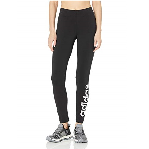 adidas Originals Women's Essentials Linear Tights, Black/White, Medium